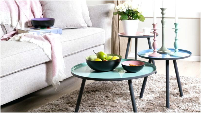Petite Table Basse Ronde Table Salon Scandinave Table Basse