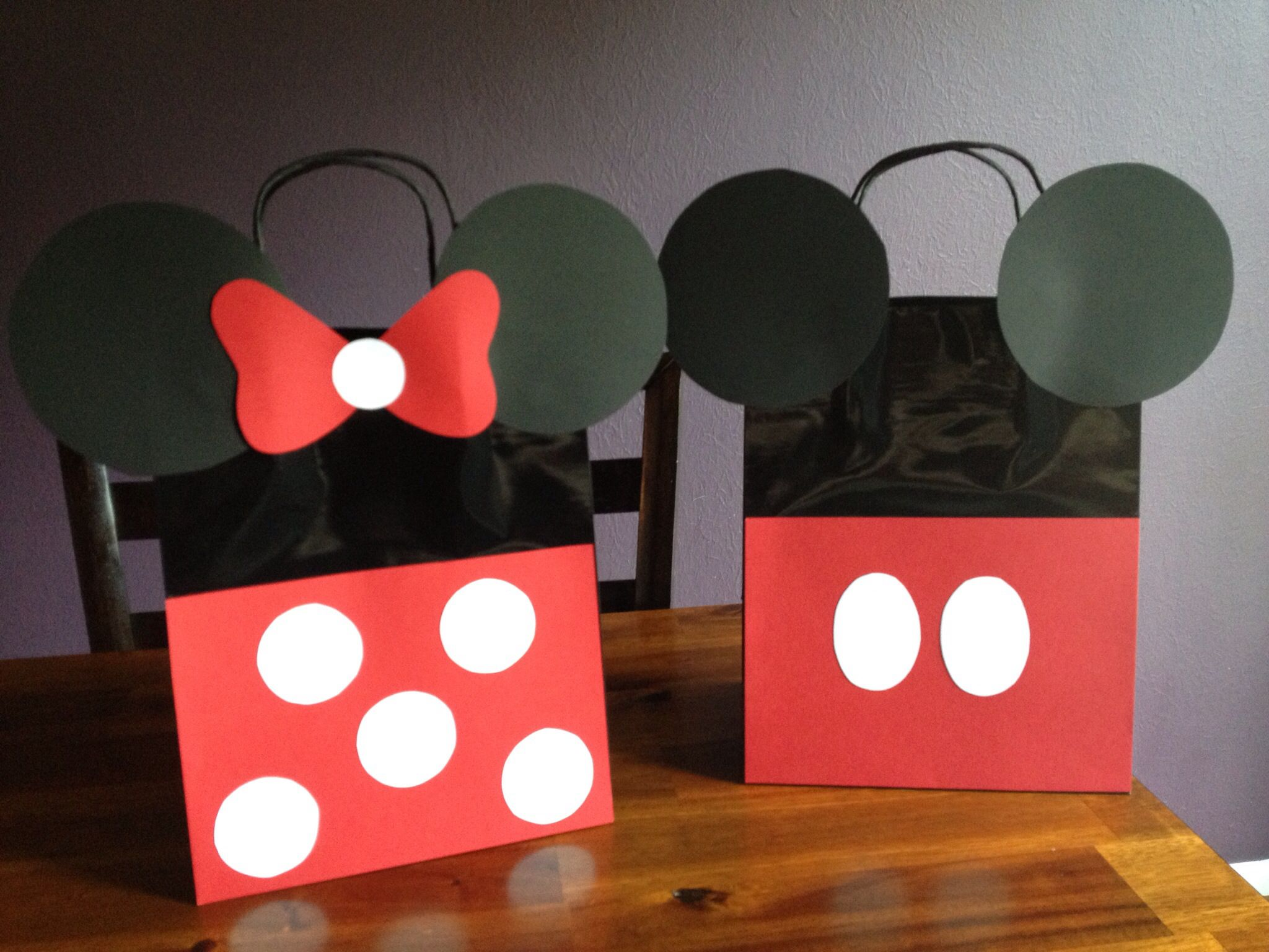 Minnie And Mickey Mouse Party Favor Bags