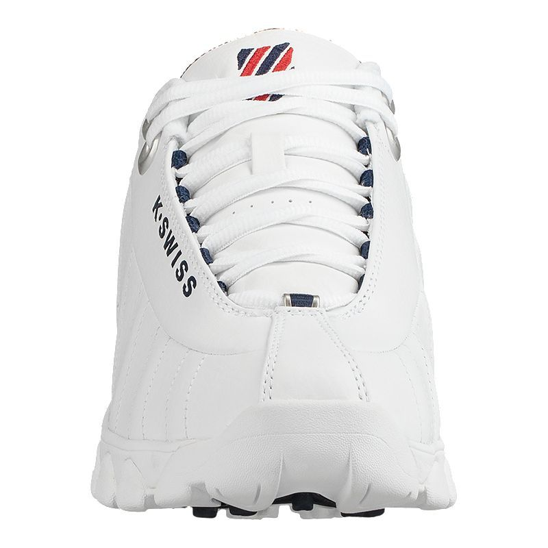 K Swiss Men's ST239 Shoes WhiteRedBlue | Shoes, Red