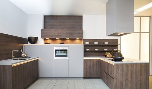 Rotpunkt Zerox SY Verticaal Dark Real Oak keukens Pinterest - kleine l küche