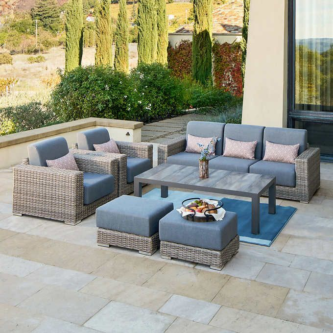Patio Furniture Layout, Deep Seating Outdoor Furniture