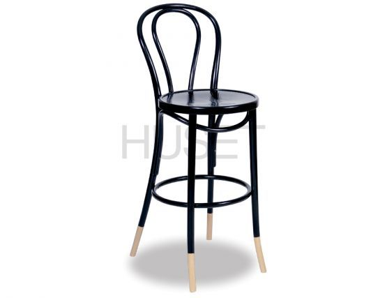 Brilliant Vienna Black W Natural Socks Bentwood Bar Stool By Micheal Dailytribune Chair Design For Home Dailytribuneorg