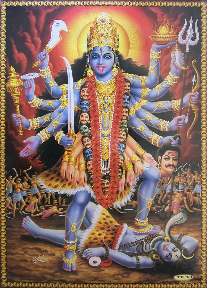Image result for Kali goddess classic painting