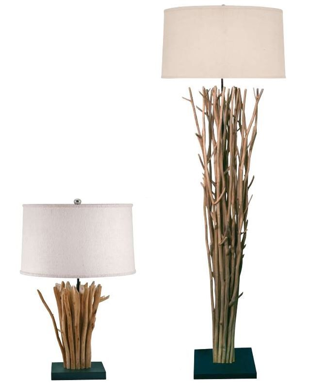 Perfect Twig Table And Floor Lamp