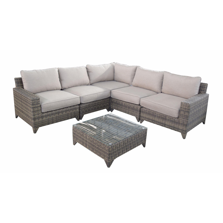 Hokku Designs Hokku Designs Hayley Sectional Sofa With Cushions New England