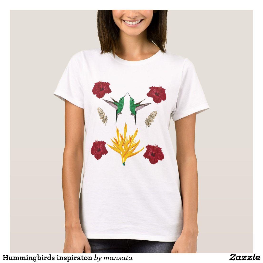 Hummingbirds inspiraton TShirt Zazzle.co.uk Elegant shirt
