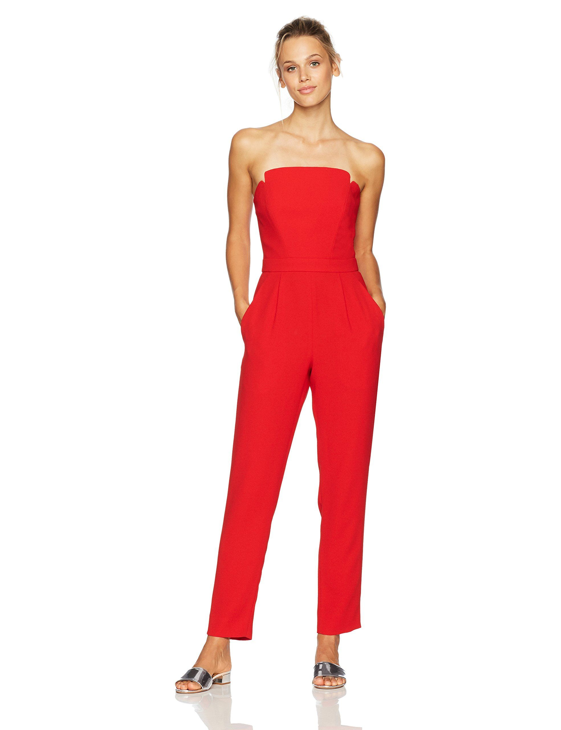 0807f498ae6 Jill Jill Stuart Womens Strapless Jumpsuit Cardinal 6    Want to know more