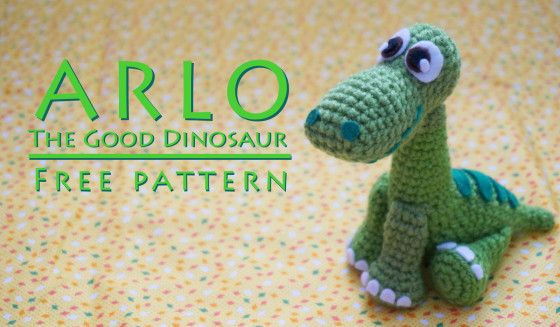 FREE PATTERN: Arlo from \'The Good Dinosaur\'   Pinterest   Free y Deberes