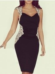 Absorbing Sweetheart  Patchwork Bodycon-dress