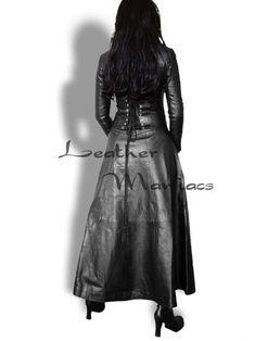 lederkleid in 2020  leather corset dress long leather