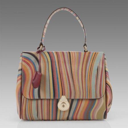 Paul Smith Handbags Swirl Print Hugo Handbag