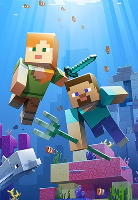 Minecraft S Aquatic Update Launches On Xbox One Window 10 Mobile Pc Onmsft Com Papel De Parede Minecraft Minecraft Imagens Minecraft