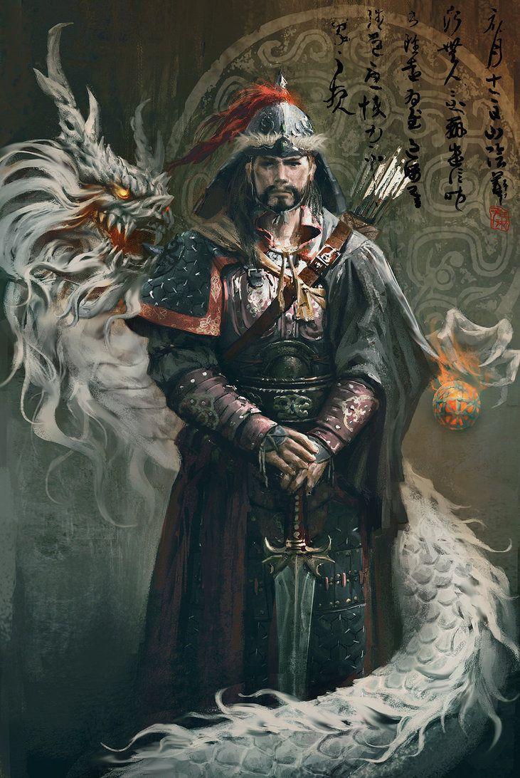 Genghis Khan Picture 2d Fantasy Khan Warrior Image