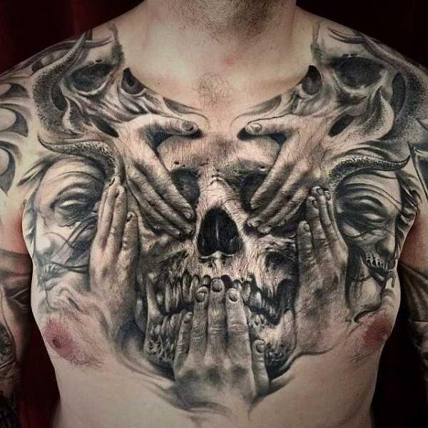 16 abgefahrene brusttattoos f r m nner tattoos pinterest tattoo ideen tattoo vorlagen und. Black Bedroom Furniture Sets. Home Design Ideas