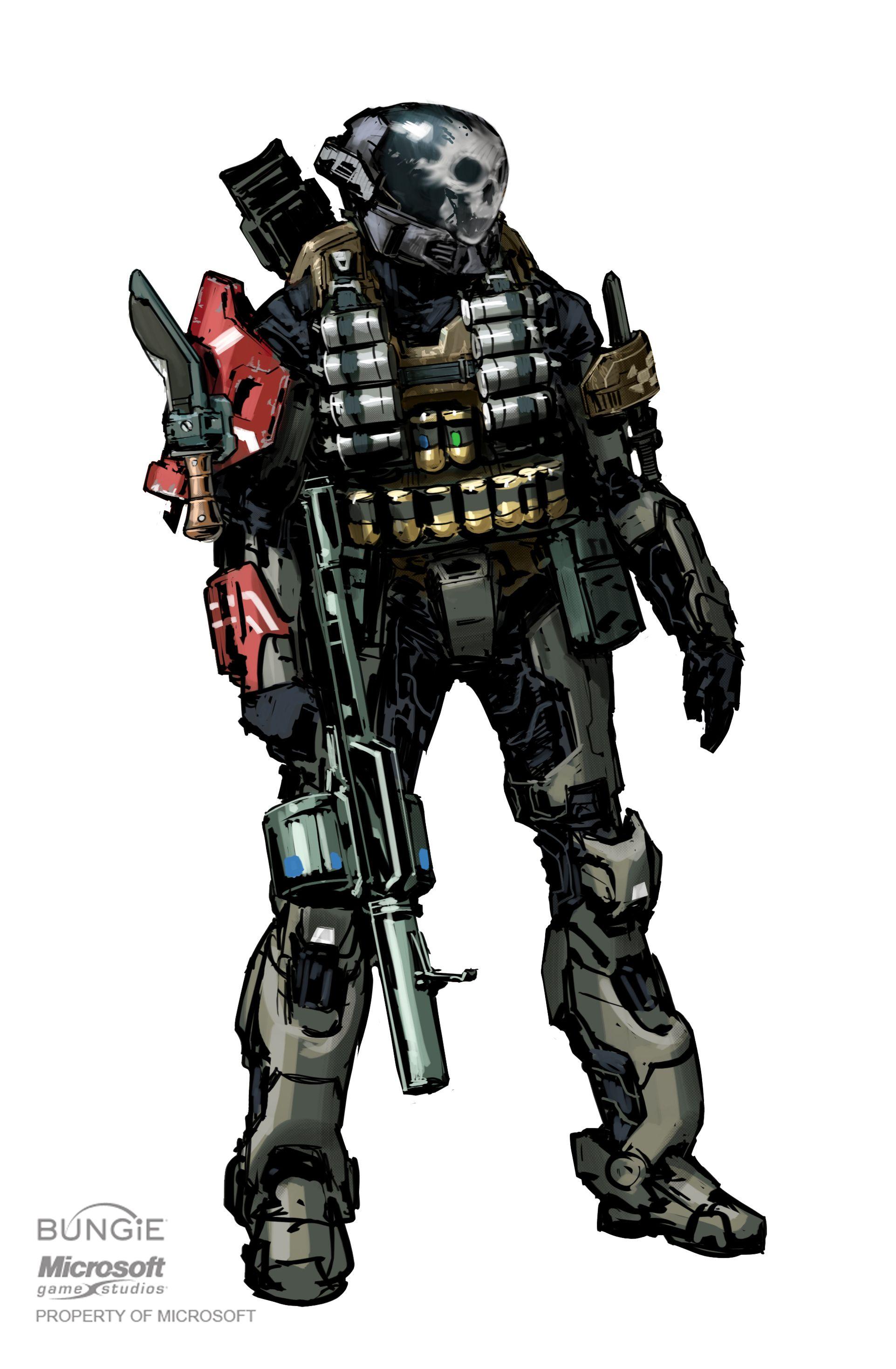 Emile-A239 SPARTAN-III   Halo reach emile, Character art ...