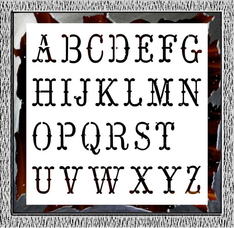 Letter Stencils For Shirts images