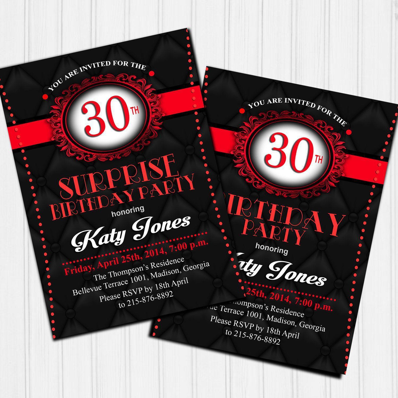 Einladungskarten Geburtstag Einladungskarten Zum 30 Geburtstag