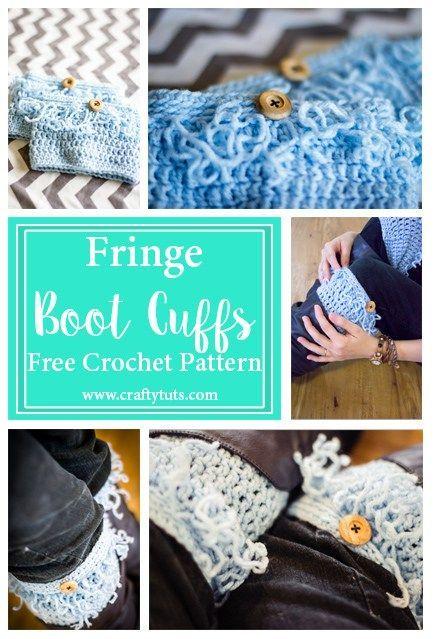 Fringe Boot Cuffs Free Crochet Pattern Pinterest Crochet