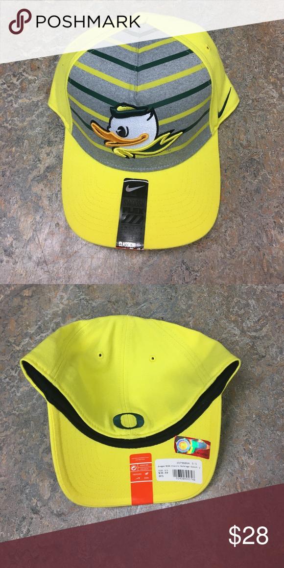 ebf1f59b2ff Oregon Ducks Nike Puddles Yellow Flex Fit Hat Cap Brand new with tags  officially licensed Oregon Ducks Nike flex fit hat. Nike Accessories Hats