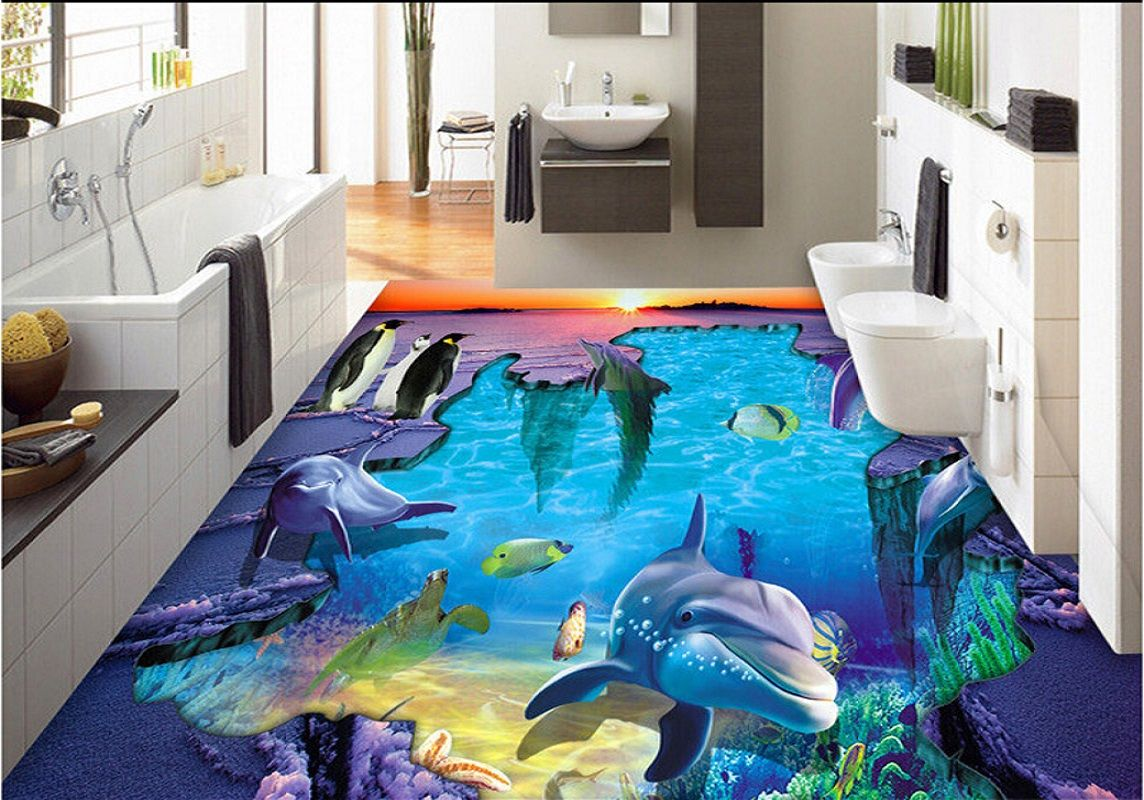 Have A Look On Some Awesome Liquid 3d Floor Tiles Designs That Turn Your Bathroom Into Ocean So Why Not Make It An Floor Tile Design Floor Design Tile Design