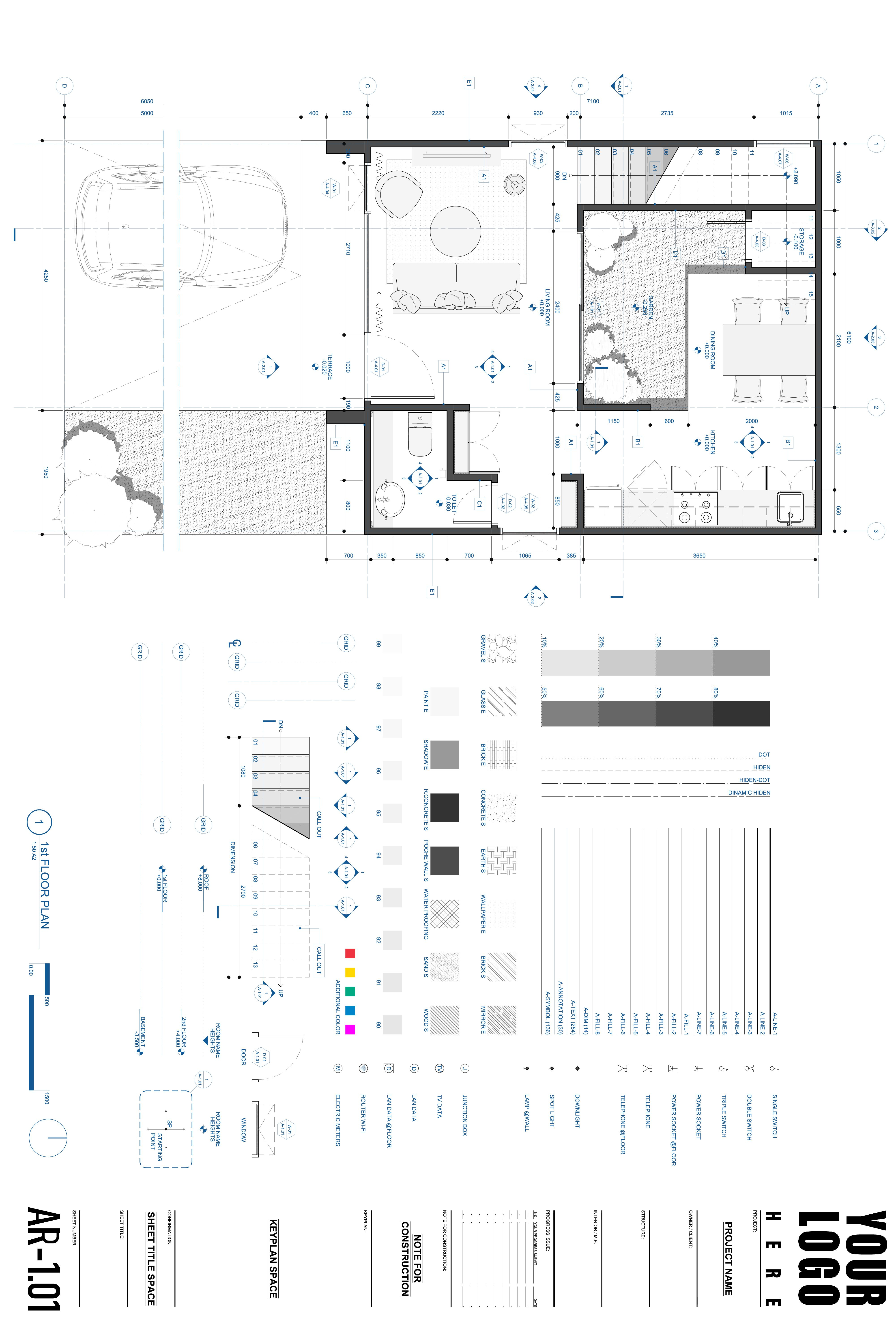 Autocad Template Architecture Drawing Architecture Drawing Plan Autocad Layout Autocad