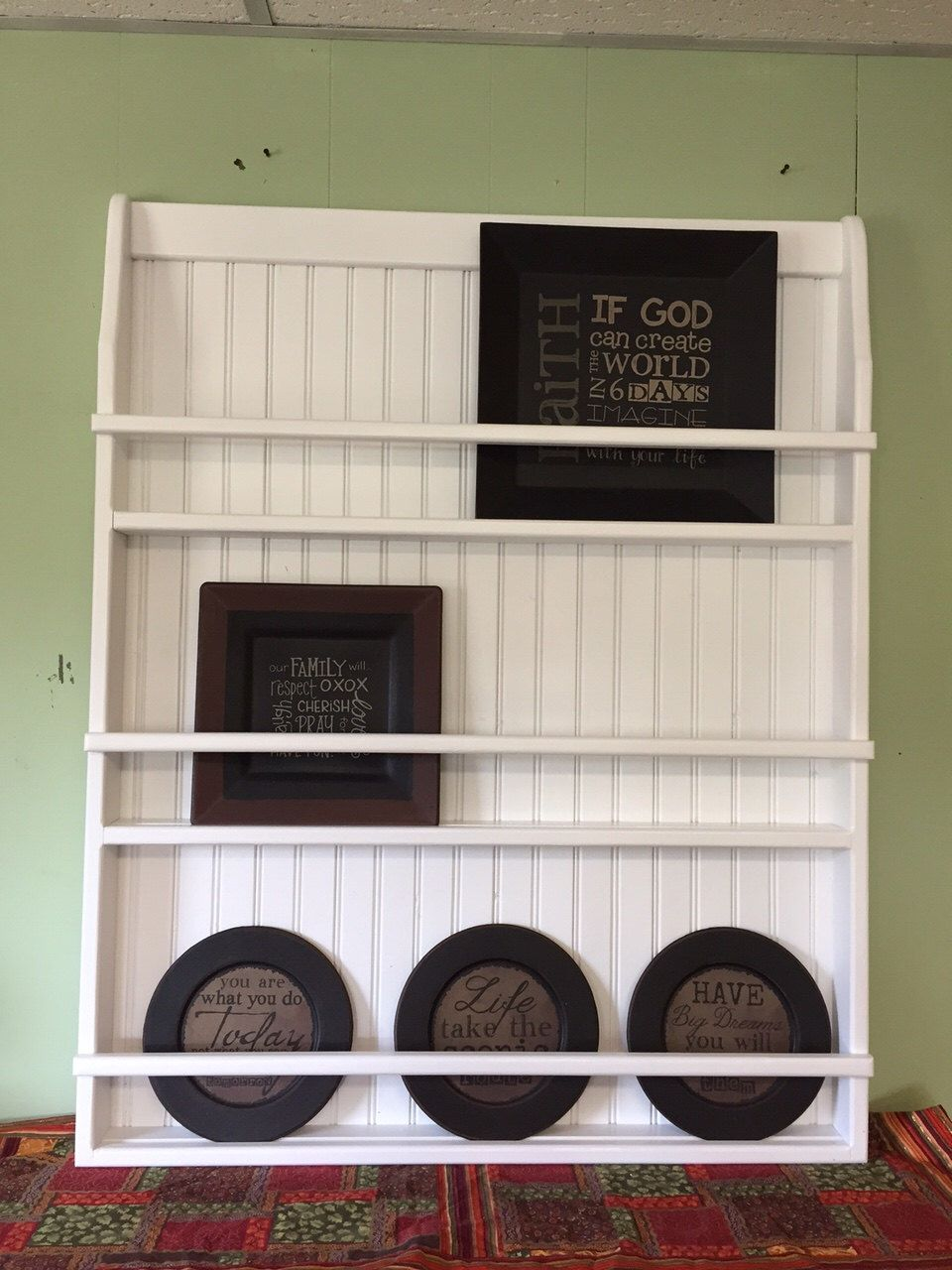 Wall Book Shelf Or Plate Rack Primtive By Appletreewoodcrafts On Etsy