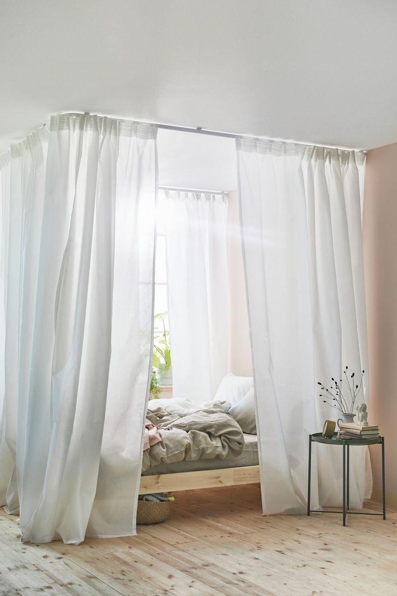 Vidga Gardinenschienen System Zimmer Madchen Bett Bettvorhang