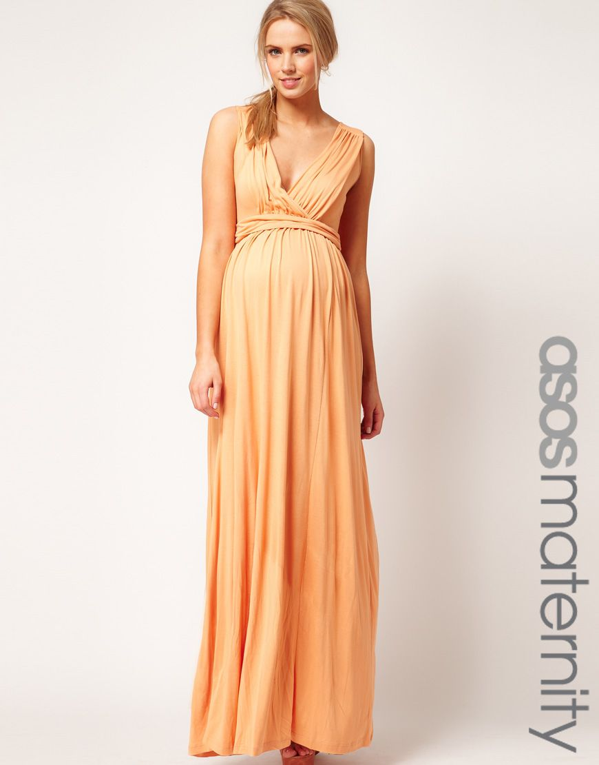 Maternity maxi dress good to have for some day or even for a asos orange asos maternity maxi dress in jersey with grecian drape detail ombrellifo Images