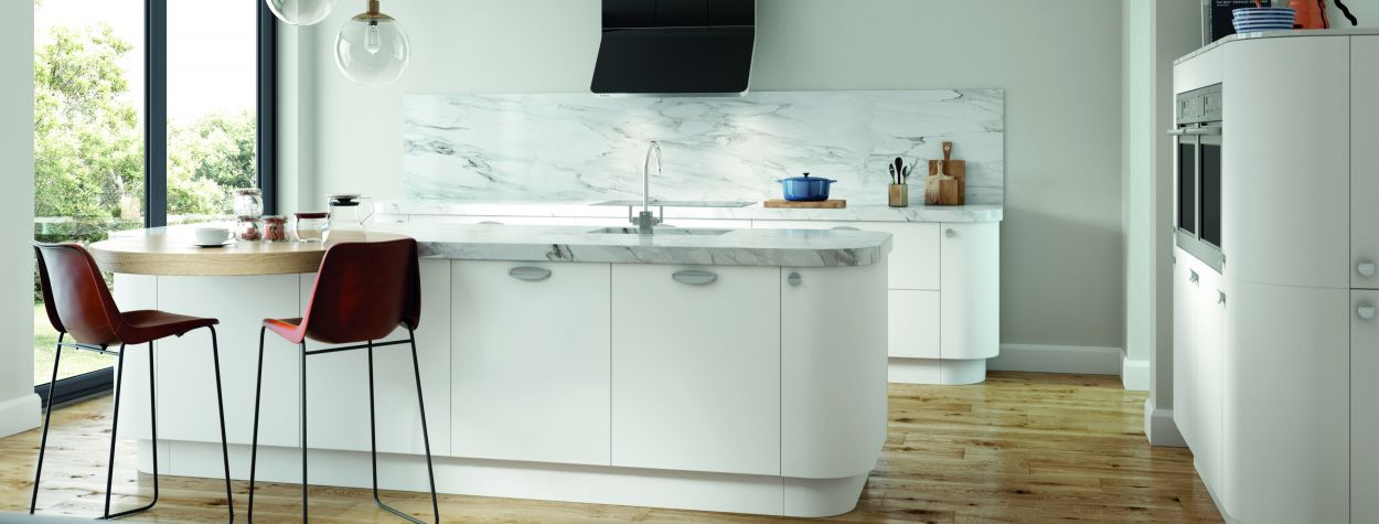 Awesome Our Vivo White Matt Kitchen Cabinet Doors Reflect Natural Beutiful Home Inspiration Aditmahrainfo