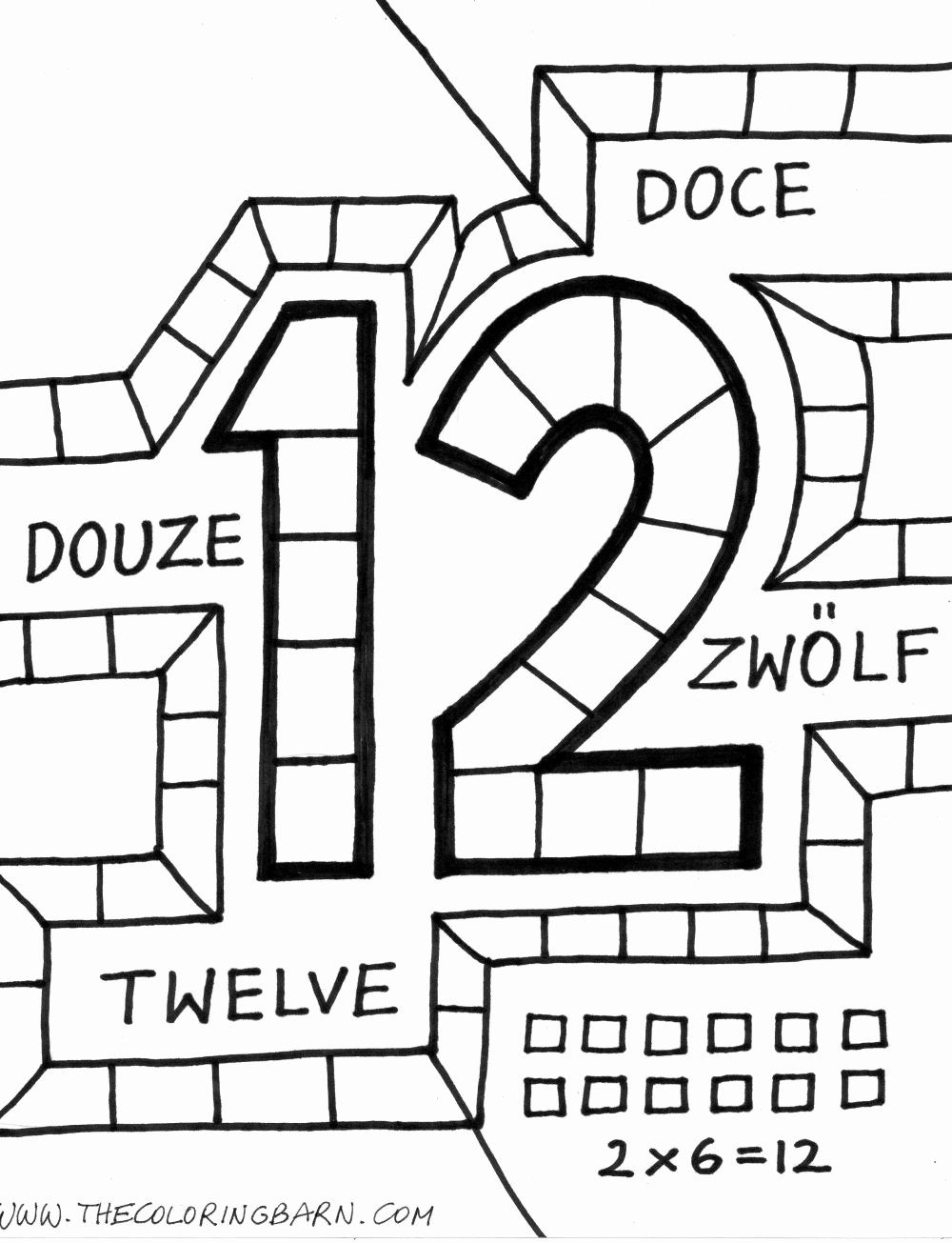 Number 11 Coloring Page Beautiful Confessions Of A Watery Tart And Twelve Things I Did In Coloring Pages Color Number 12
