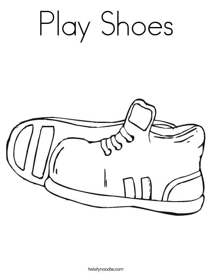 Shoes Coloring Page Adult