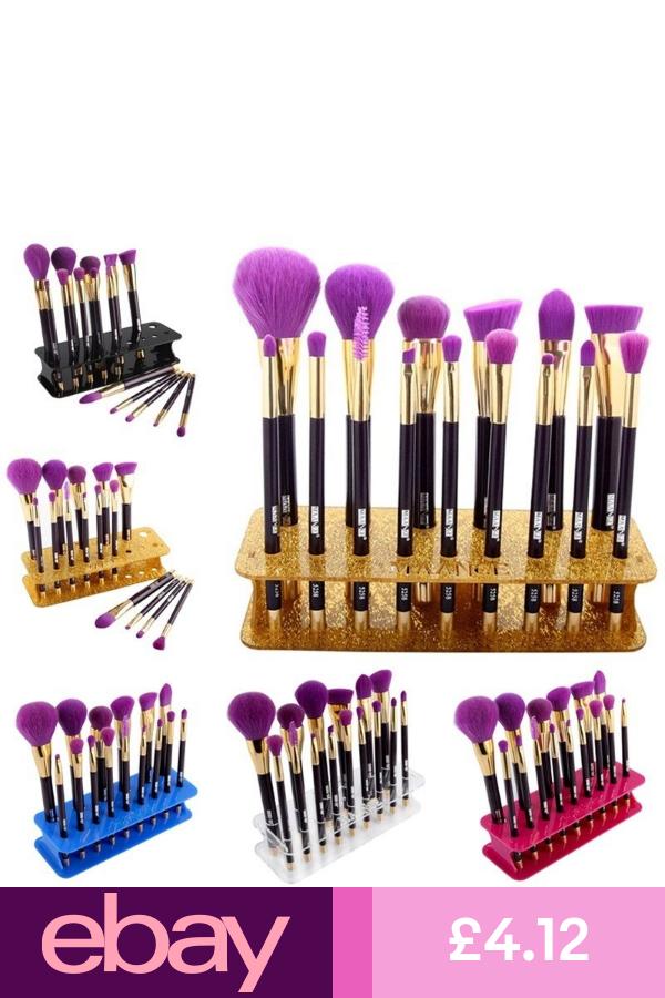 15 Hole Square Makeup Brush Holder Drying Rack Organizer
