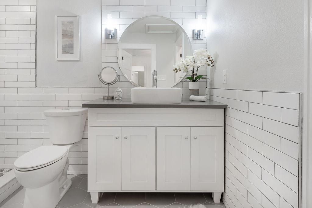 "Master bathroom 48"" vanity with vessel sink - 1920's ..."