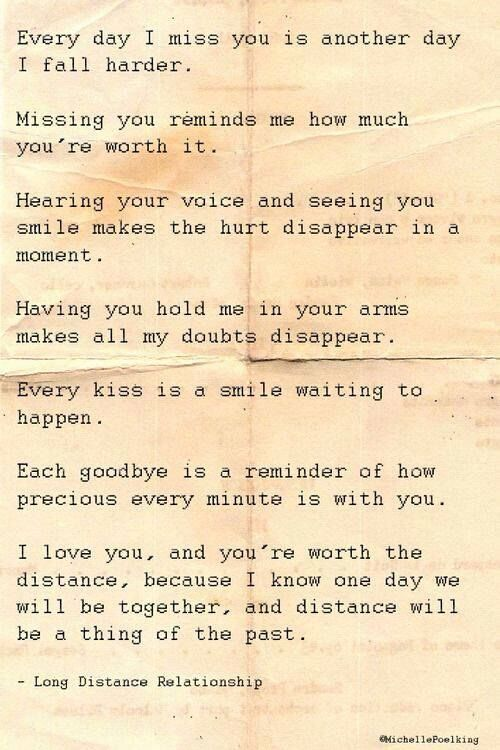 Soulmate Quotes : Long distance relationship…