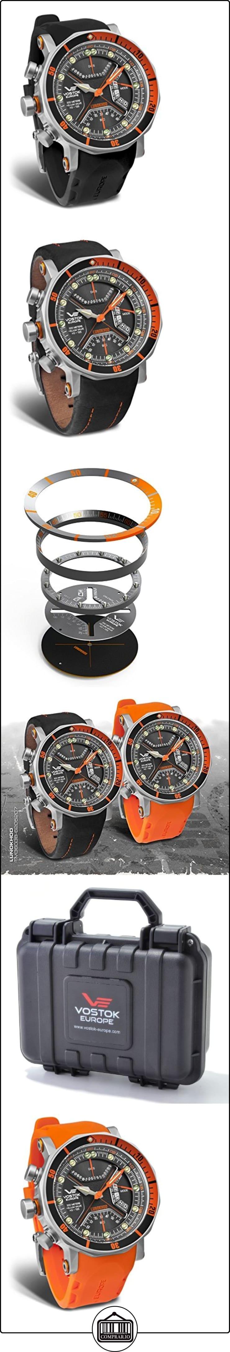 vostok-europe-Lunokhod 2-Cronógrafo Multifunción Buceo-Naranja Accents-tm3603/6205207  ✿ Relojes para hombre - (Lujo) ✿