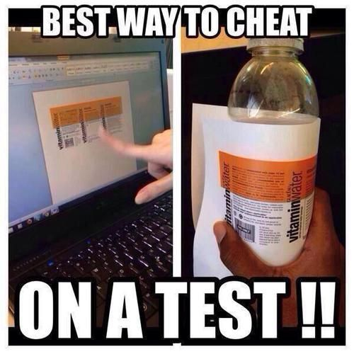 test, cheat, and funny afbeelding
