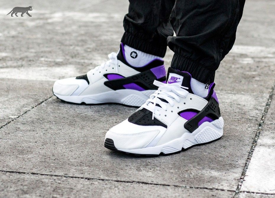 cbfbcc4ced7f8 Nike Air Huarache Run  91 QS (Black   Purple Punch - Black - White ...