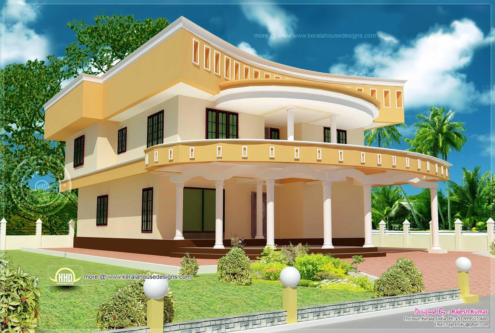 Unique home design in Kerala - Kerala home design and ...