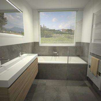 Badkamer met ligbad en douche met glazen wand | badkamer | Pinterest ...
