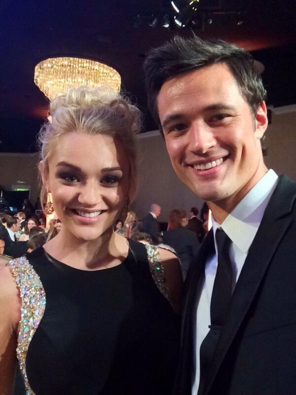 Hunter Haley King and Matthew Atkinson AKA: Austin and Summer Newman Trevors.