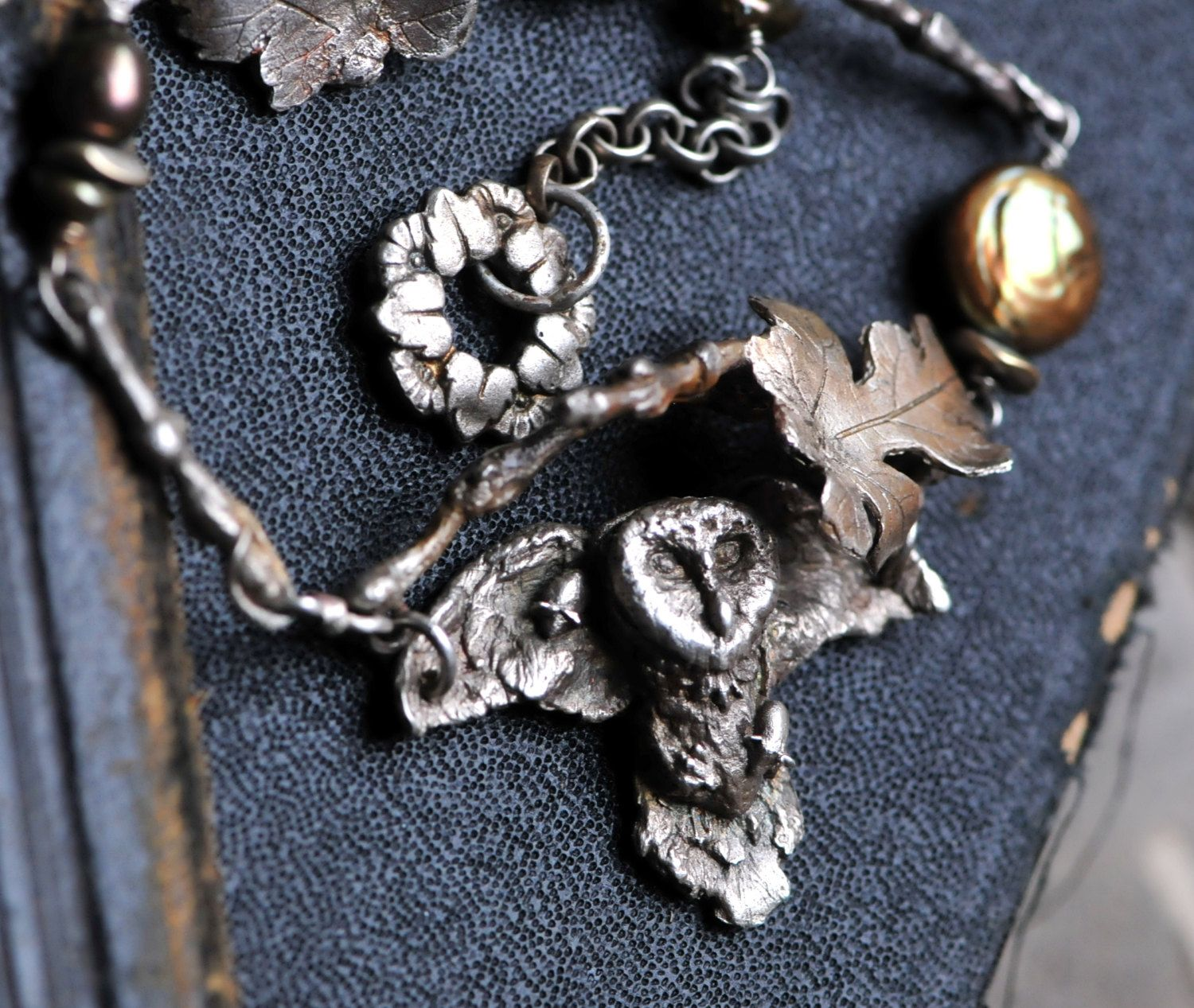 Owl in flight necklace by EAdornments on Etsy https://www.etsy.com/listing/183416721/owl-in-flight-necklace