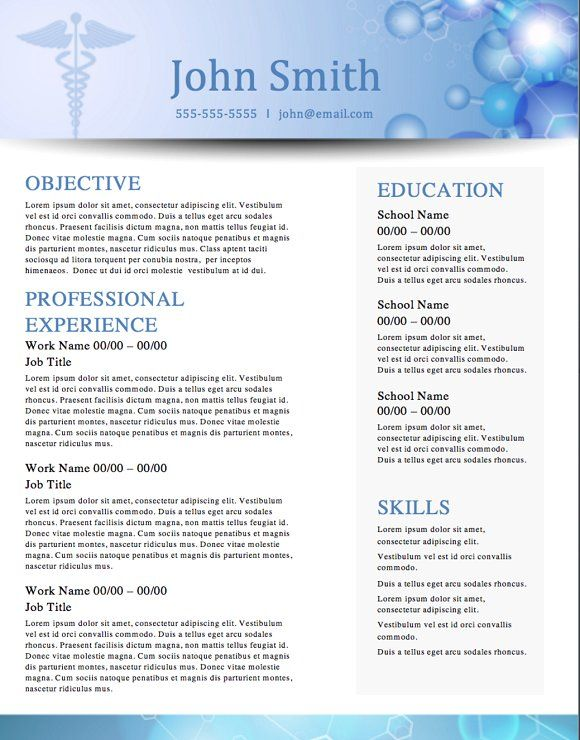 Medical \ - free template for resume