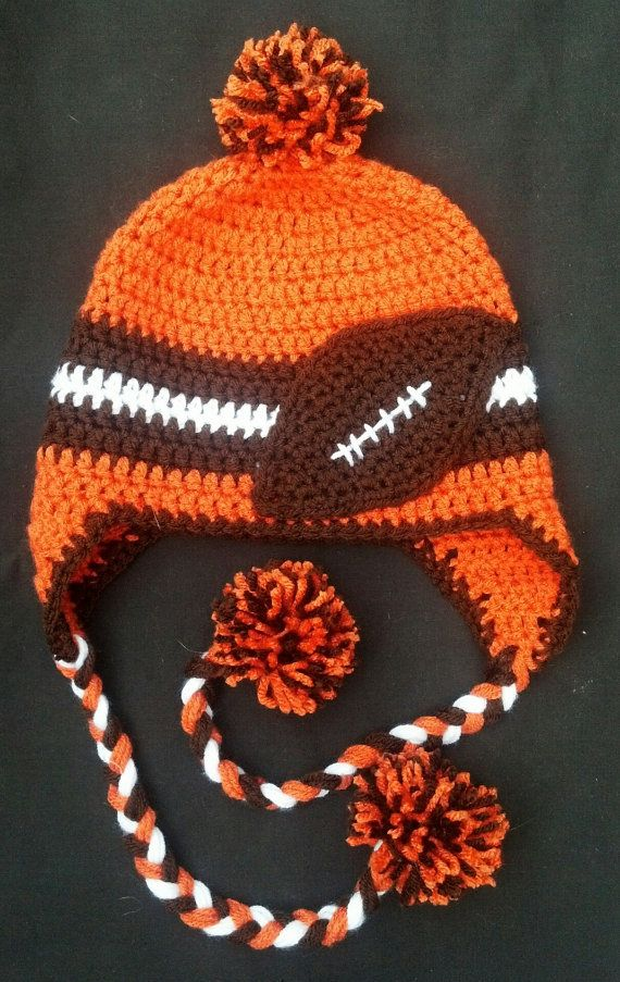 Cleveland Browns Football Ear Flap Hat by CarolynLaymonArtist ... bcdf4169a29