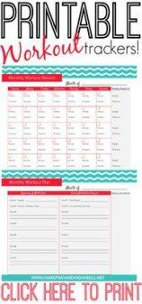 56+ Trendy Ideas Fitness Tracker Printable Monthly Track #fitness