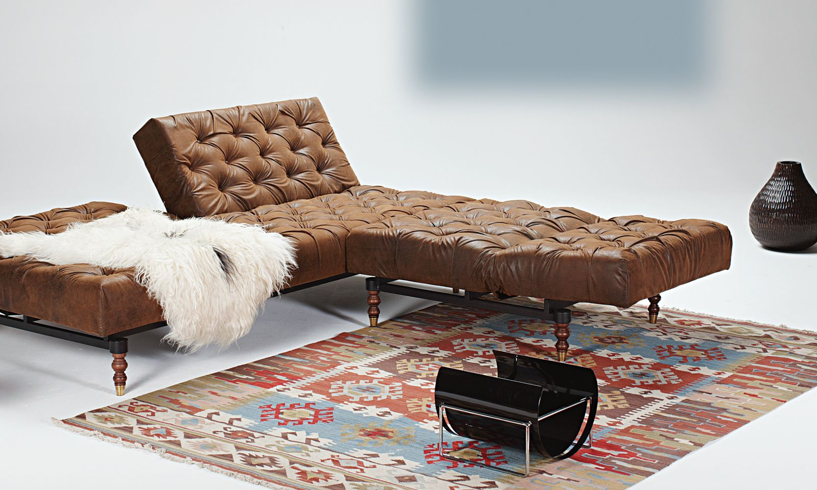 Schlafcouch Vintage Innovation Oldschool Schlafsofa Brown Vintage 461 Schlafsofas