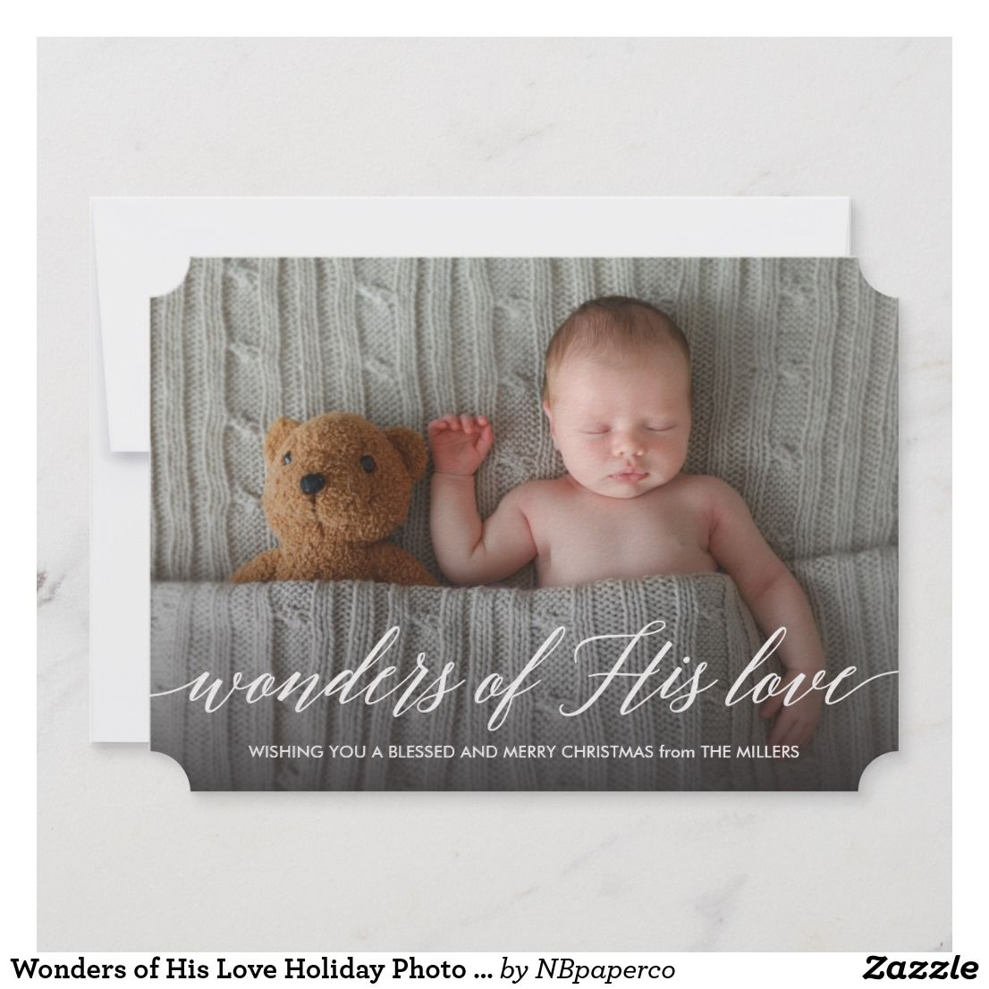 Wonders Of His Love Holiday Photo Card Birth Announcement Cards Announcements Baby Pregnancy