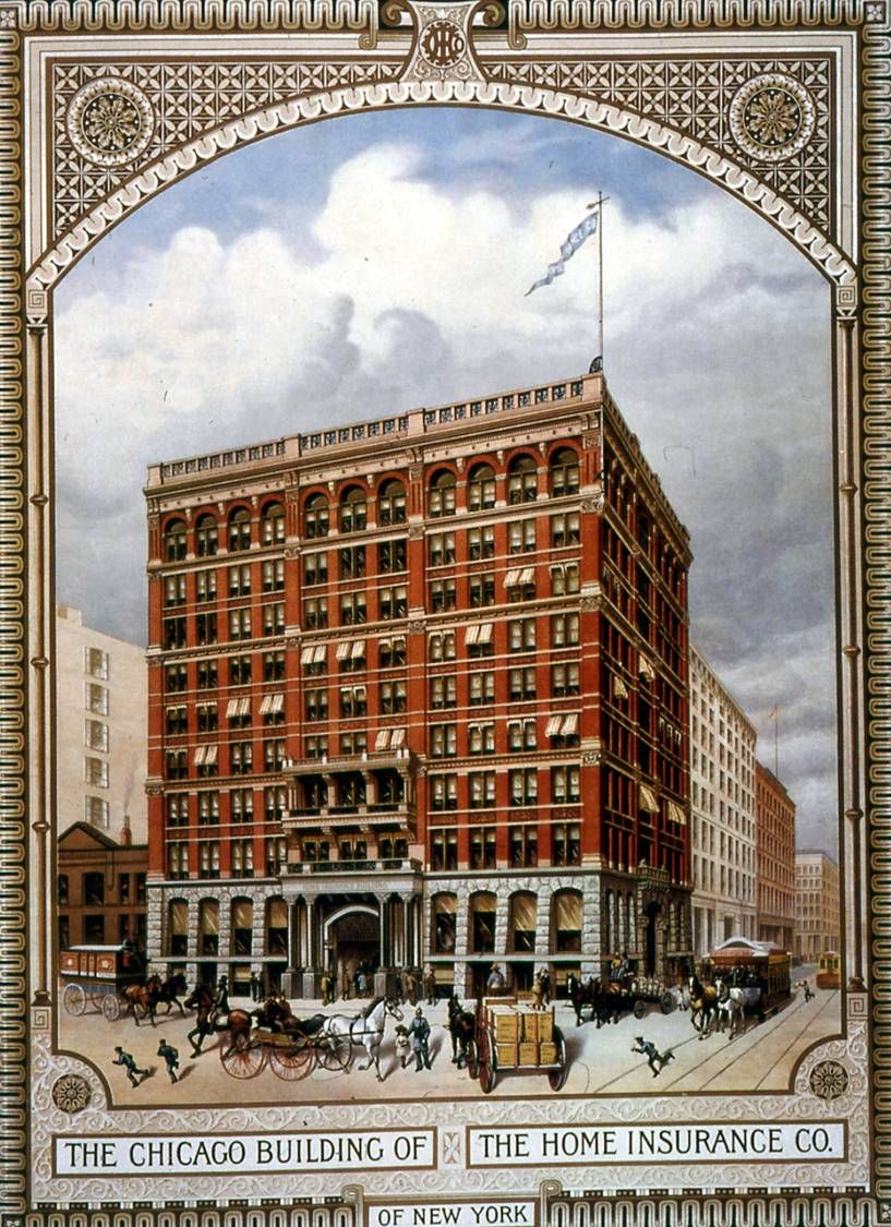 Drawing Of William Lebaron Jenney S Home Assurance Building
