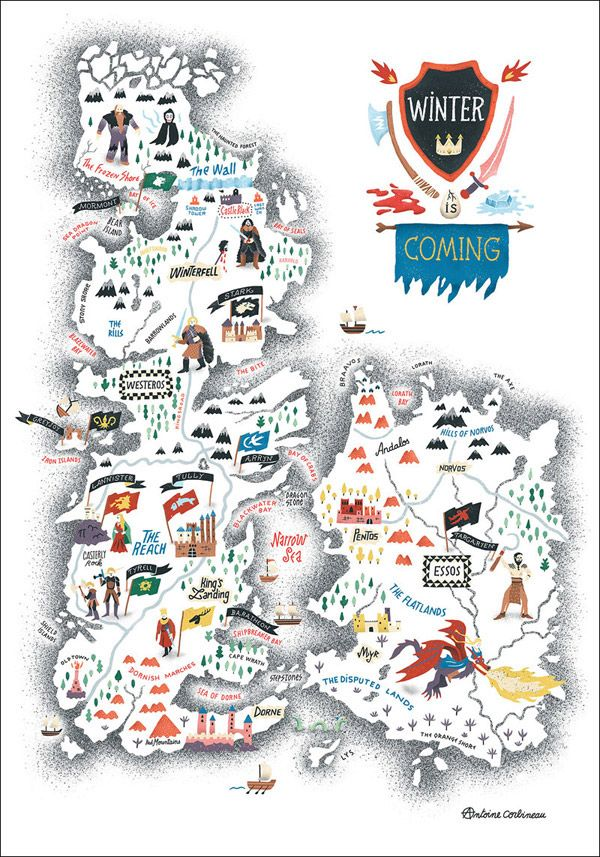 A Beautifully Illustrated Map Of The \'Game Of Thrones\' World ...