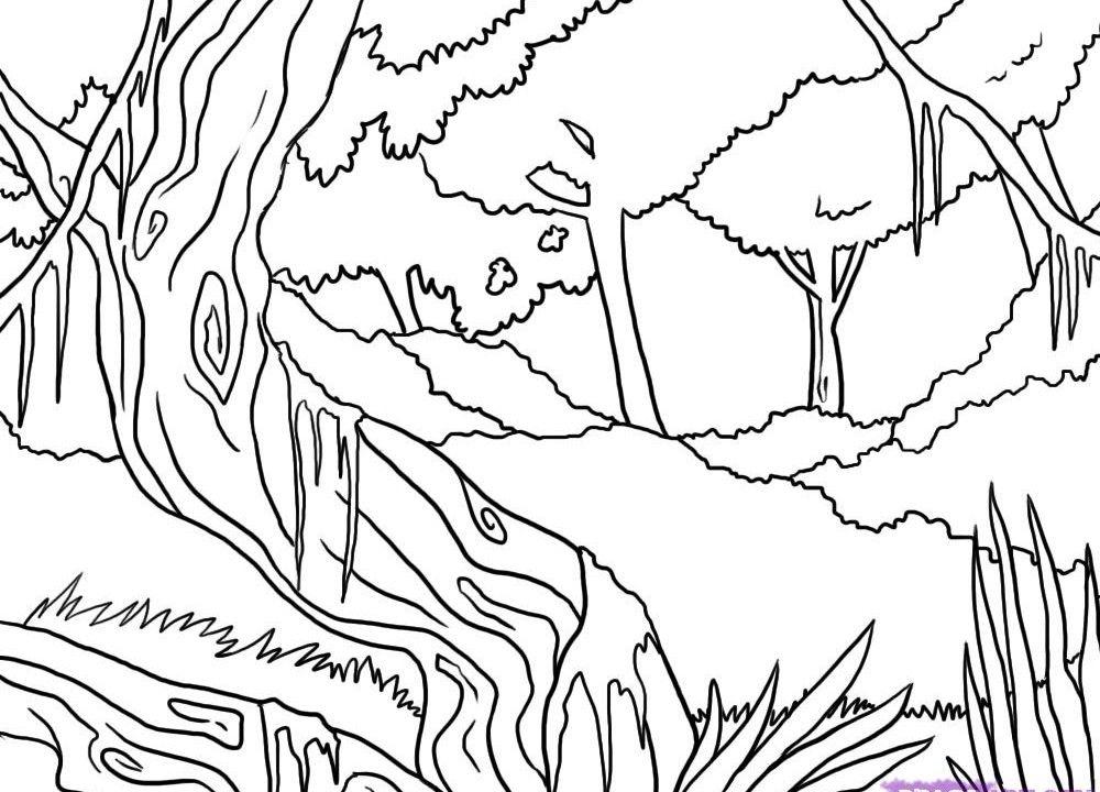 JUNGLE COLORING SHEETS Jungle Coloring Page Jungle