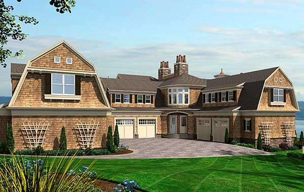 Luxury house plans shingle style home design and style for Shingle house plans